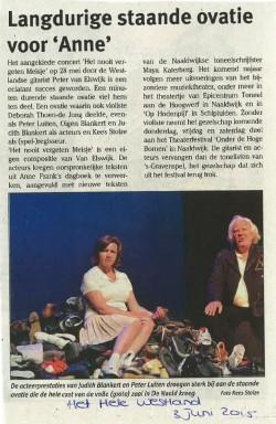 Artikel Het Hele Westland Anne 3 juni 2015