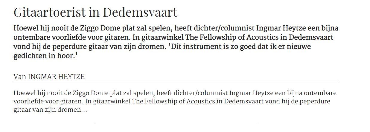 Verslaafd-aan-je-gitaar-Gitaartoerist in Dedemsvaart