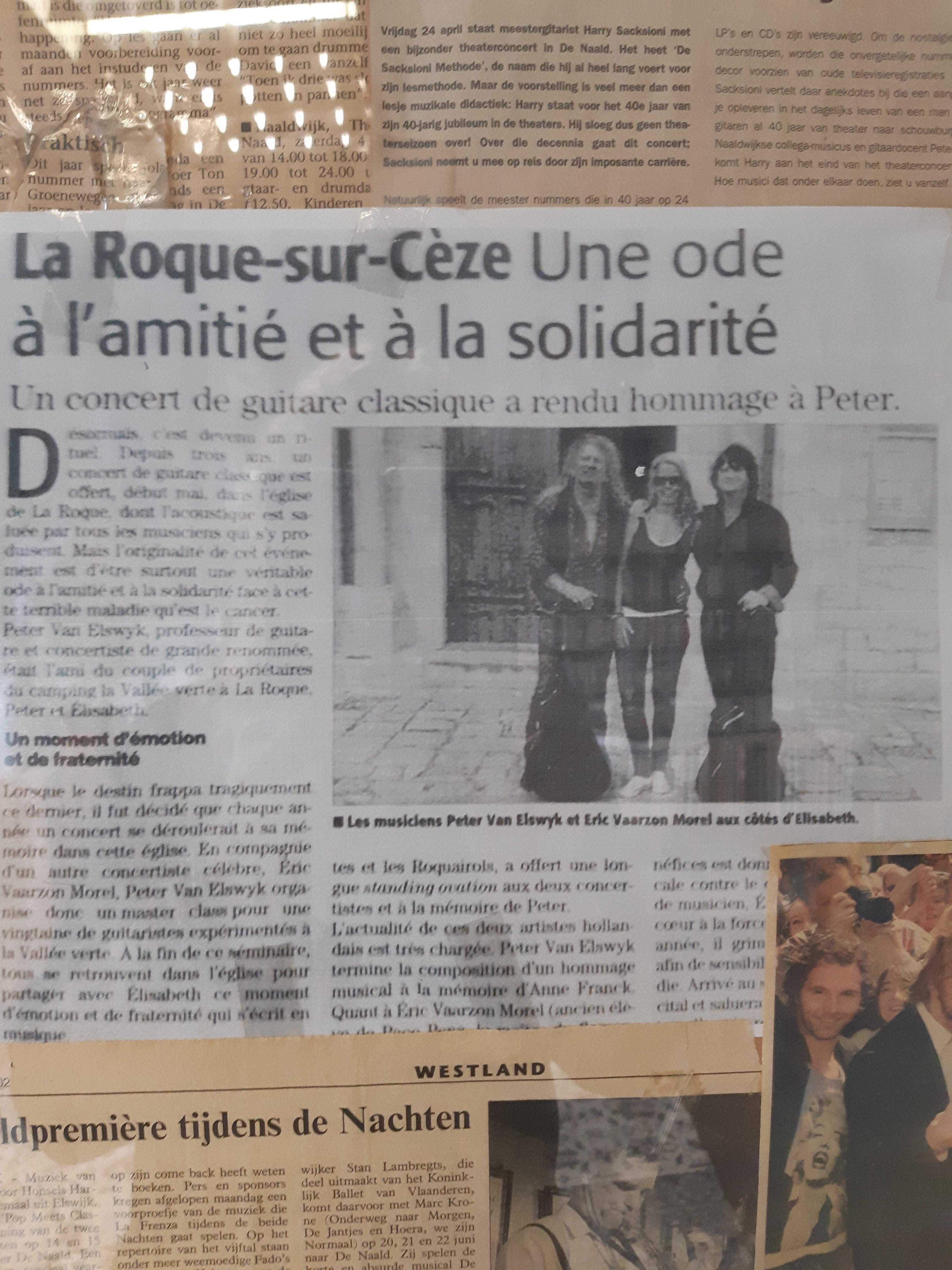Met eric in La Rocque-gitaarclinics